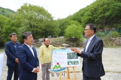 박종호 산림청장 국립등산학교 설치 현장방문